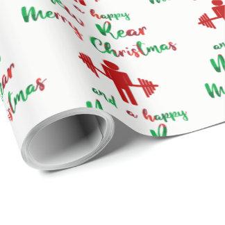 Papel de embalaje divertido del navidad de Fitmas