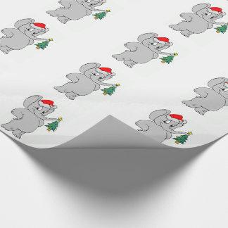 Papel de embalaje/elefante de Santa