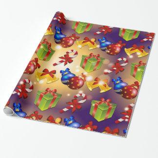 Papel de embalaje elegante del navidad papel de regalo