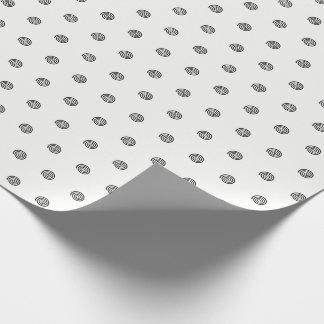 """Papel de embalaje espiral """"blanco y negro"""" de los"""