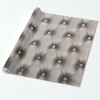 Papel de embalaje festivo con capitone de los gris papel de regalo