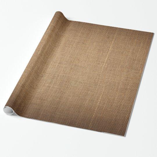Papel de embalaje festivo con la lona marrón