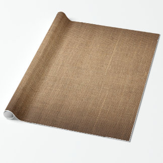 Papel de embalaje festivo con la lona marrón papel de regalo