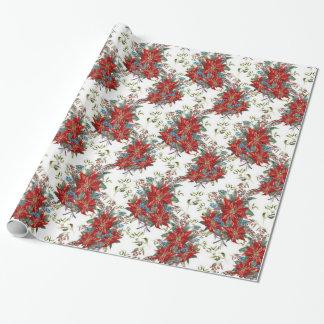 Papel de embalaje festivo de la flor del papel de regalo