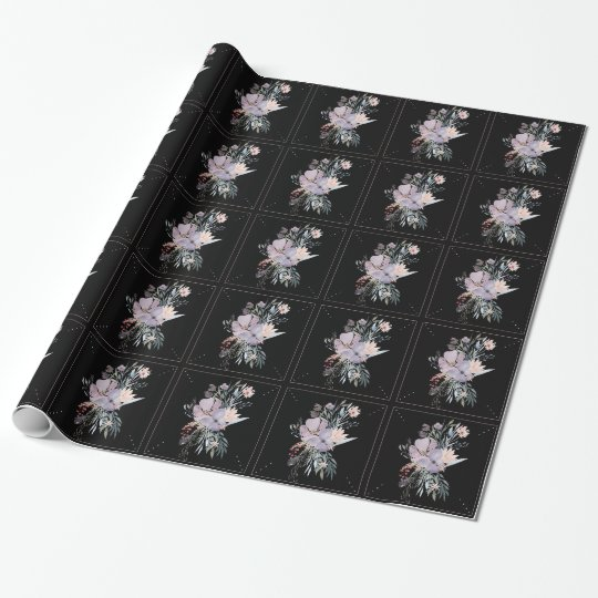 Papel de embalaje floral de la acuarela