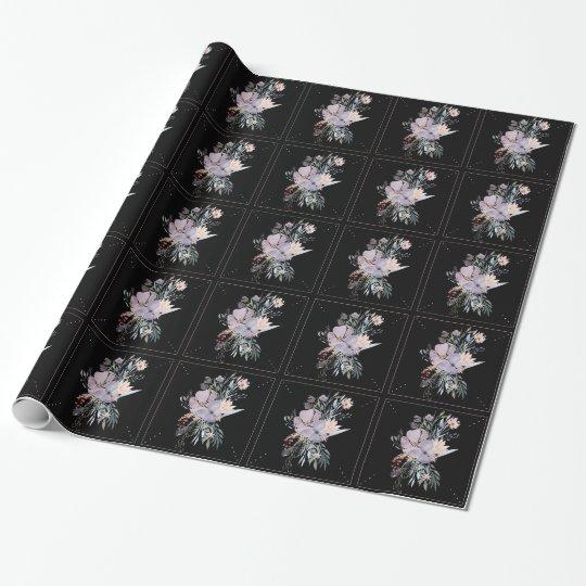 Papel de embalaje floral de la acuarela papel de regalo