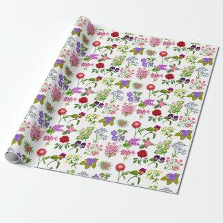 Papel de embalaje floral del jardín francés del