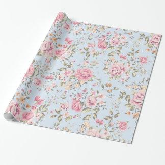 Papel de embalaje floral elegante lamentable