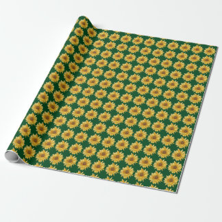 Papel de embalaje Flowered - girasol
