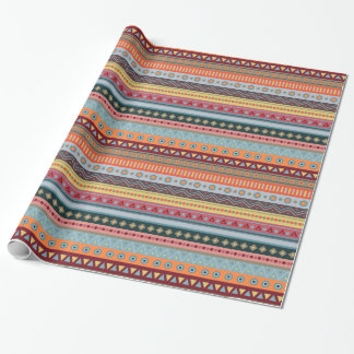 Papel de embalaje geométrico colorido tribal del