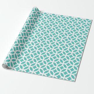 Papel de embalaje geométrico de la turquesa papel de regalo