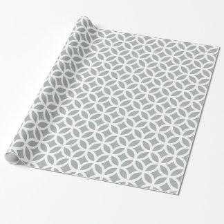 Papel de embalaje geométrico de los gris plateados