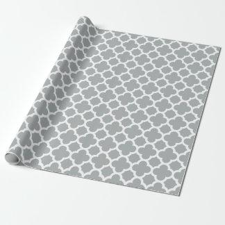 Papel de embalaje gris del modelo del enrejado de