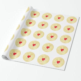 Papel de embalaje ilustrado galleta Jammy de Papel De Regalo