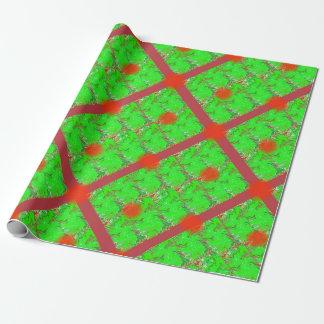 Papel de embalaje iridiscente del navidad