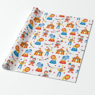 Papel de embalaje lindo del animal de circo papel de regalo