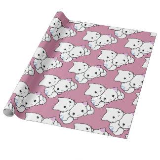 Papel de embalaje lindo del gatito papel de regalo