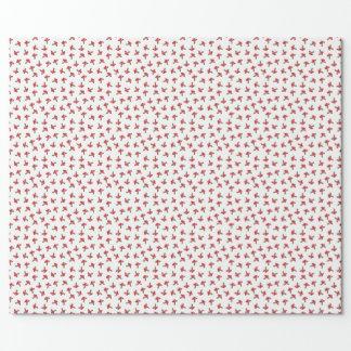 Papel de embalaje manchado rojo lindo de las setas