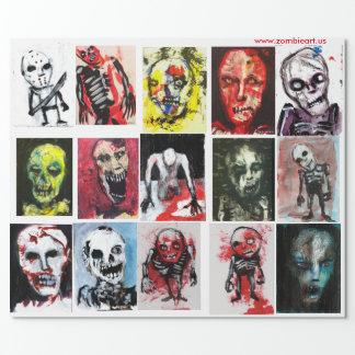 """Papel de embalaje mate del arte del zombi, 30"""" x"""
