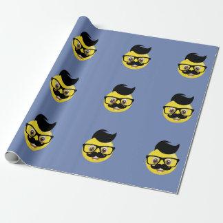 Papel de embalaje melenudo de Emoji del bigote
