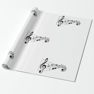 Papel de embalaje musical del Clef de la música