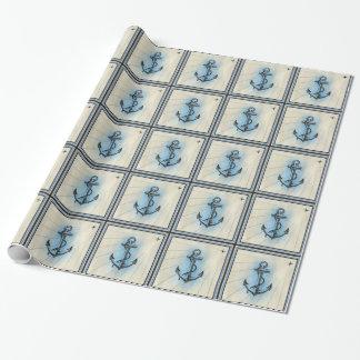 papel de embalaje náutico del ancla de la nave