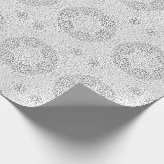 Papel de embalaje nupcial del cordón afiligranado