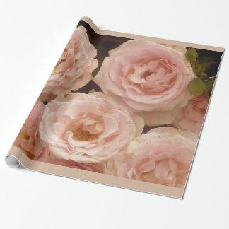 Papel de embalaje precioso de los rosas