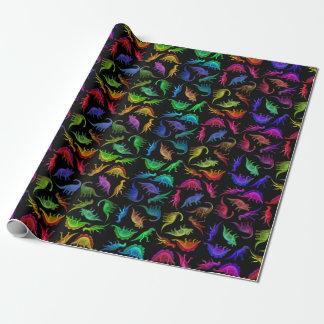 Papel de embalaje prehistórico colorido de los papel de regalo