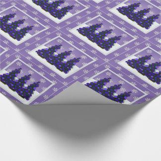Papel de embalaje púrpura del navidad Nevado Papel De Regalo