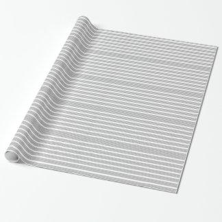 Papel de embalaje rayado gris y blanco papel de regalo
