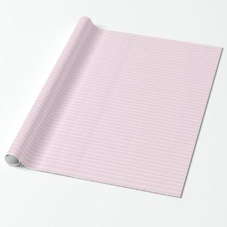 Papel de embalaje rayado rosado papel de regalo