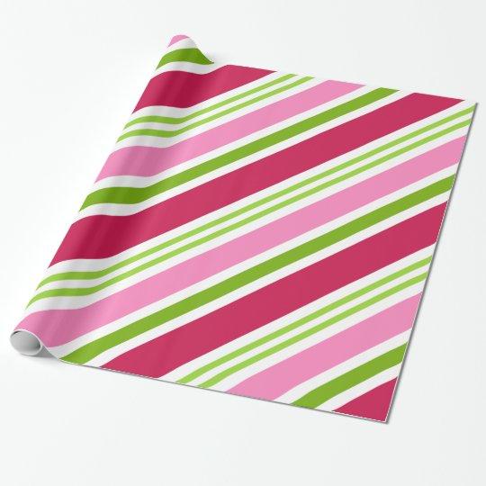 Papel de embalaje retro rosado del navidad del papel de regalo