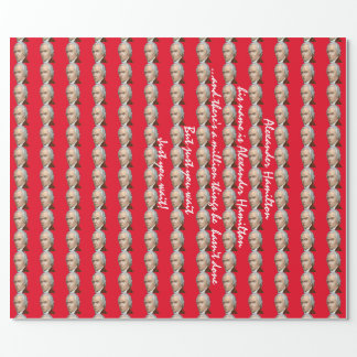 Papel de embalaje rojo de Alexander Hamilton