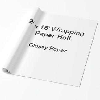 Papel de embalaje (rollo 2x15, papel brillante) papel de regalo