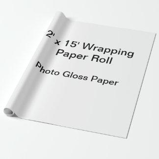 Papel de embalaje (rollo 2x15, papel del lustre de papel de regalo