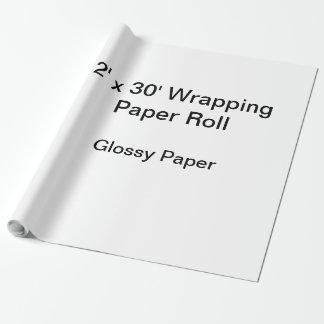 Papel de embalaje (rollo 2x30, papel brillante) papel de regalo