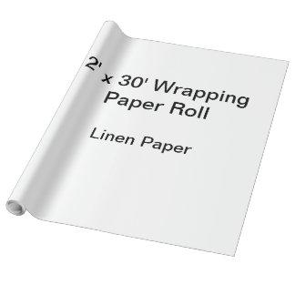 Papel de embalaje (rollo 2x30, papel de lino) papel de regalo