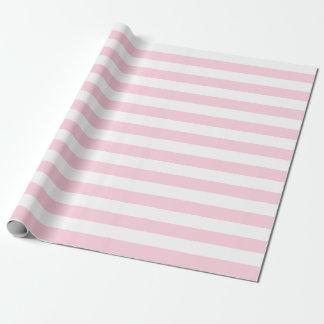 Papel de embalaje rosa claro y blanco grande de papel de regalo