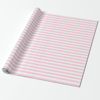 Papel de embalaje rosa claro y blanco medio de las papel de regalo