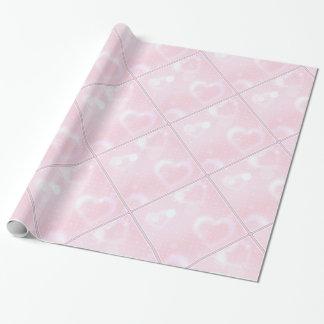 Papel de embalaje rosado bonito de los corazones