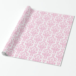 Papel de embalaje rosado del damasco papel de regalo