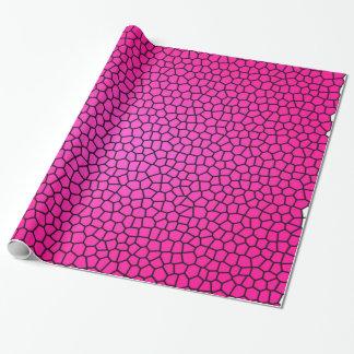 Papel de embalaje rosado del diseño de la