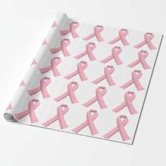 Papel de embalaje rosado del guerrero del cáncer