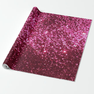 Papel de embalaje rosado del purpurina atractivo