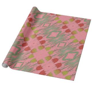 Papel de embalaje rosado floral, tulipán