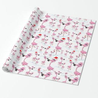 Papel de embalaje rosado lindo del gorra de Santa Papel De Regalo