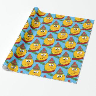 Papel de embalaje sonriente adaptable de Emoji del Papel De Regalo