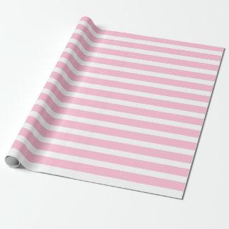 Papel de embalaje suavemente rosado y blanco de papel de regalo