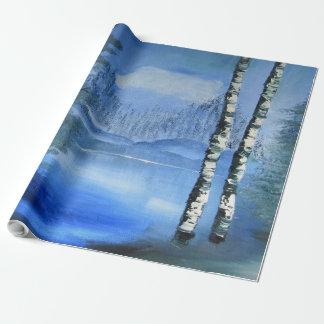 Papel de embalaje tranquilo del lago papel de regalo